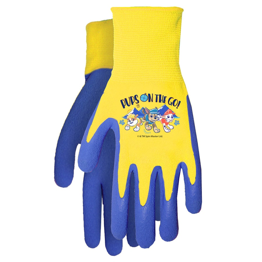 MidWest Quality Gloves, Inc. Unisex Child Red/blue Polyester Garden Gloves