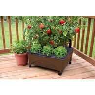 EMSCO GROUP Earth Brown Resin Raised Garden Bed 2345D Deals