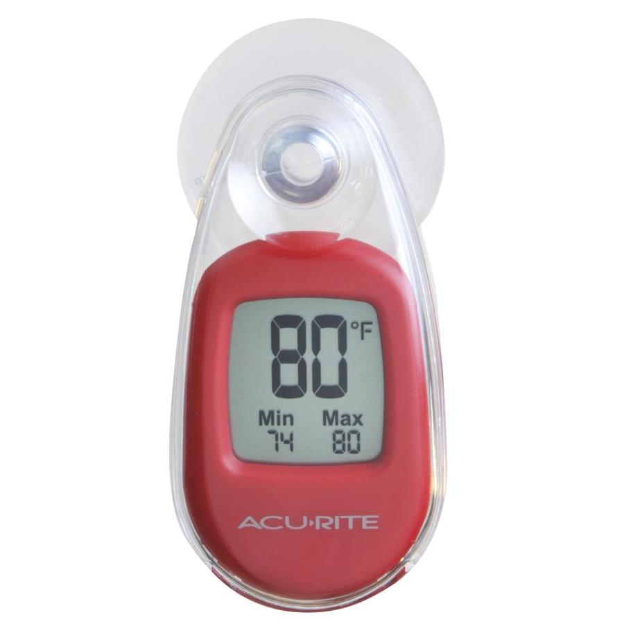 AcuRite Digital Wireless Indoor/Outdoor Red Thermometer