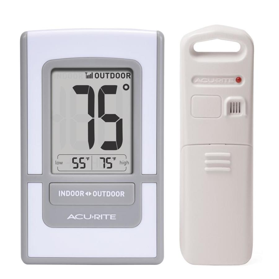 AcuRite Digital Wireless Indoor/Outdoor White Thermometer