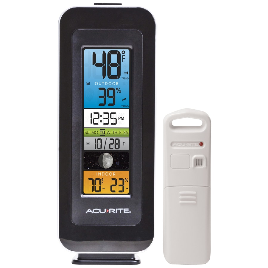 AcuRite Digital Wireless Indoor/Outdoor Black Thermometer
