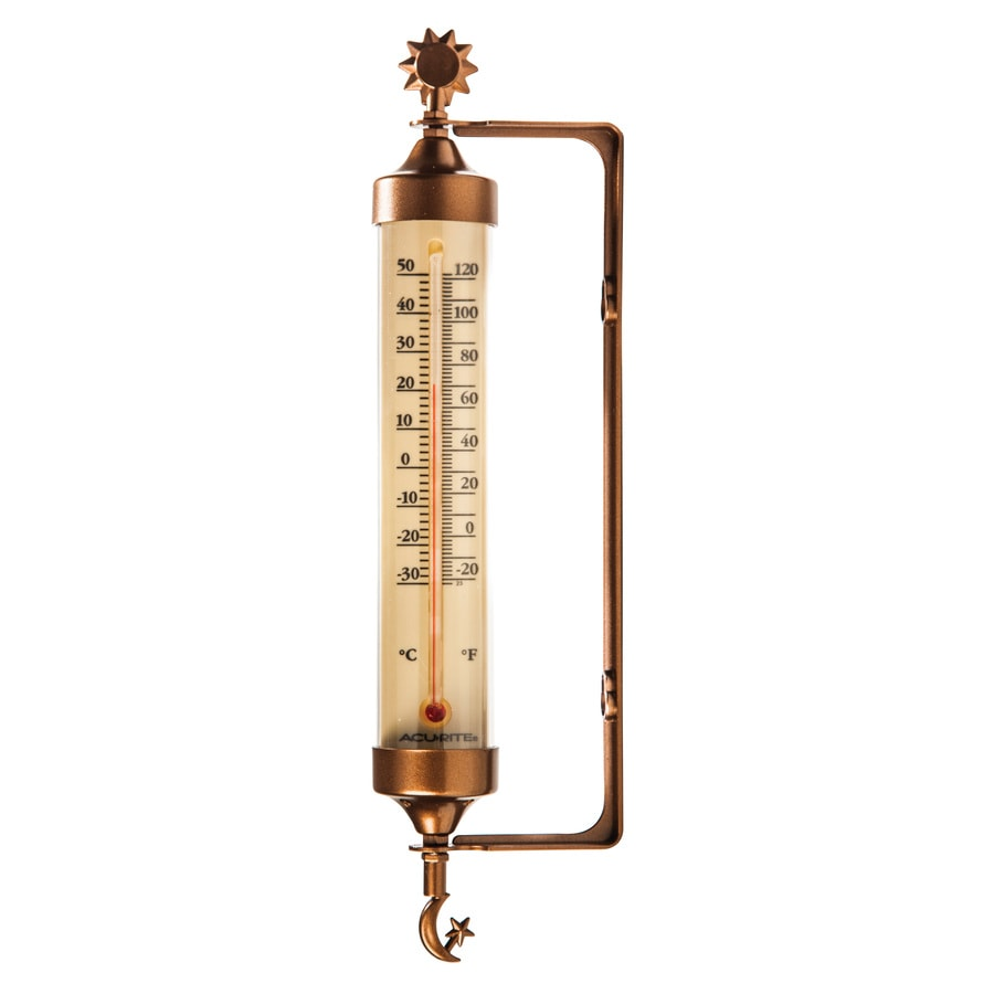 Shop AcuRite Wireless Indoor Outdoor Copper Thermometer At