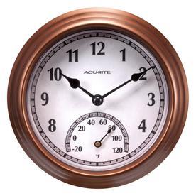 Acurite Indoor Outdoor Bronze Thermometer With Clock