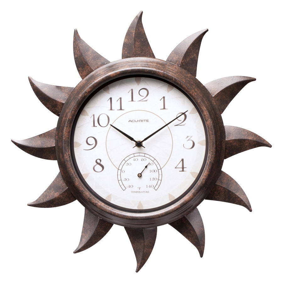 AcuRite Indoor/Outdoor Bronze Sun Clock