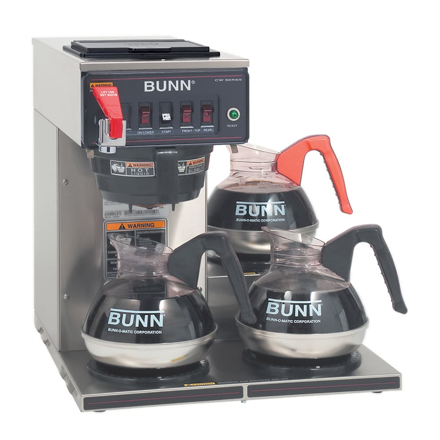 BUNN CWTF15-3 3L 12-Cup Stainless Steel Commercial Coffee Maker