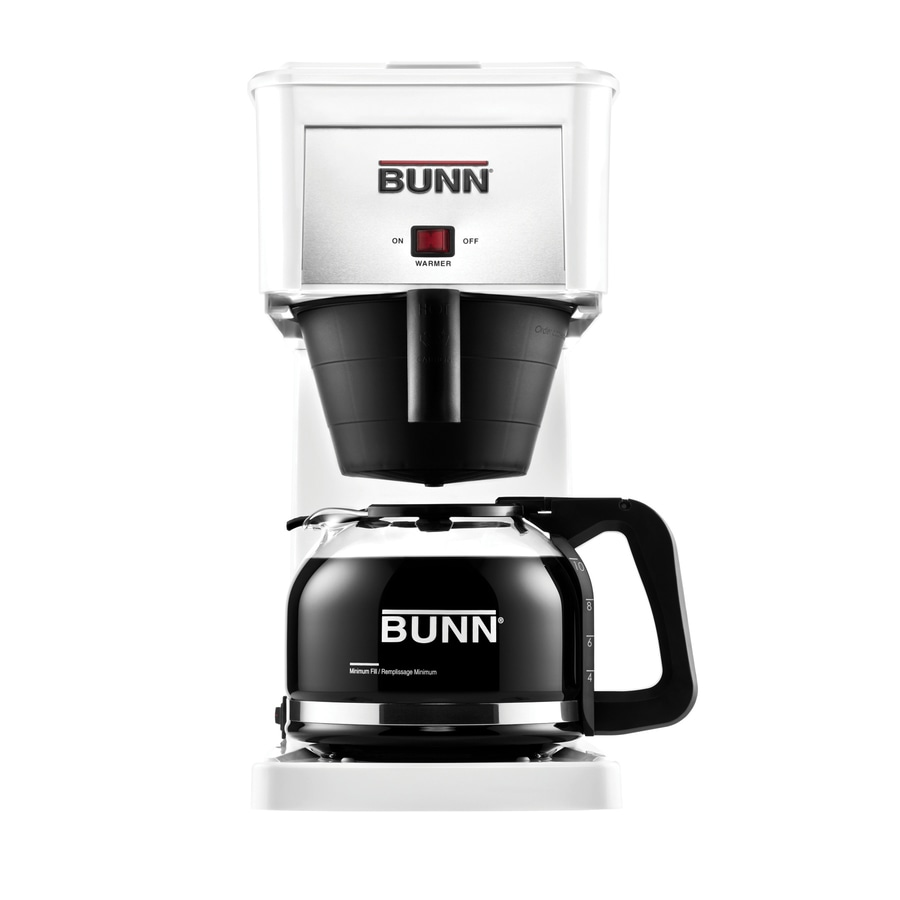BUNN Velocity Brew 10-Cup White Coffee Maker