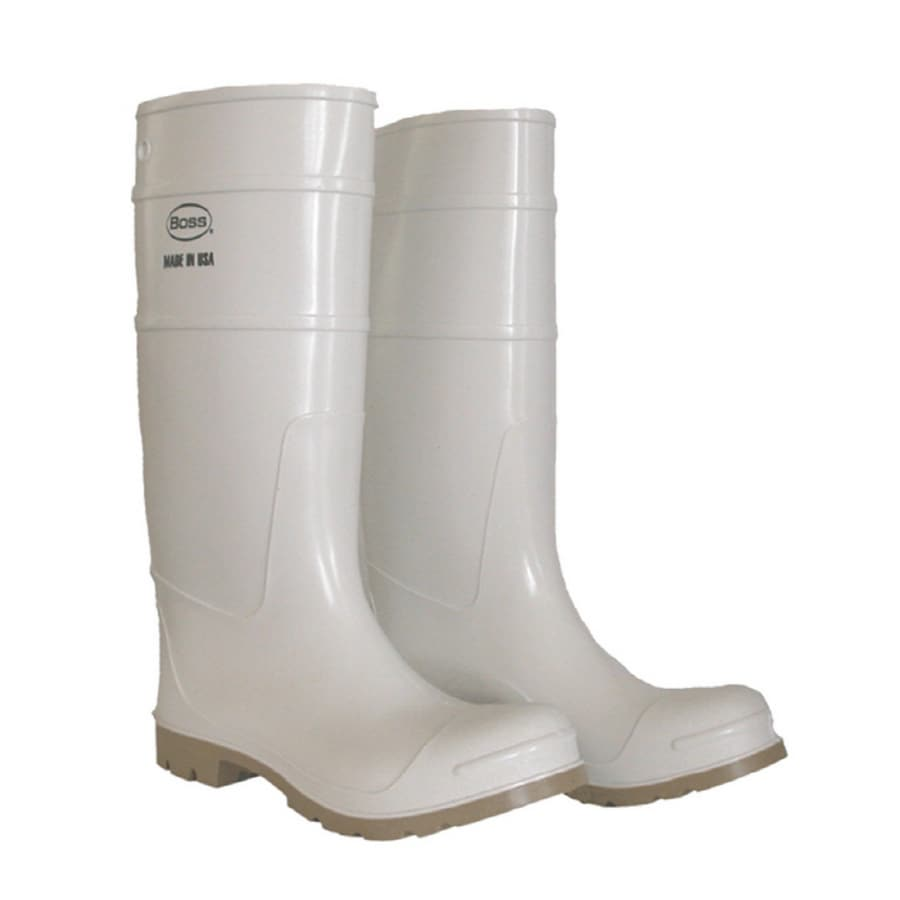 Boss Size-10 White Over the Sock Boots