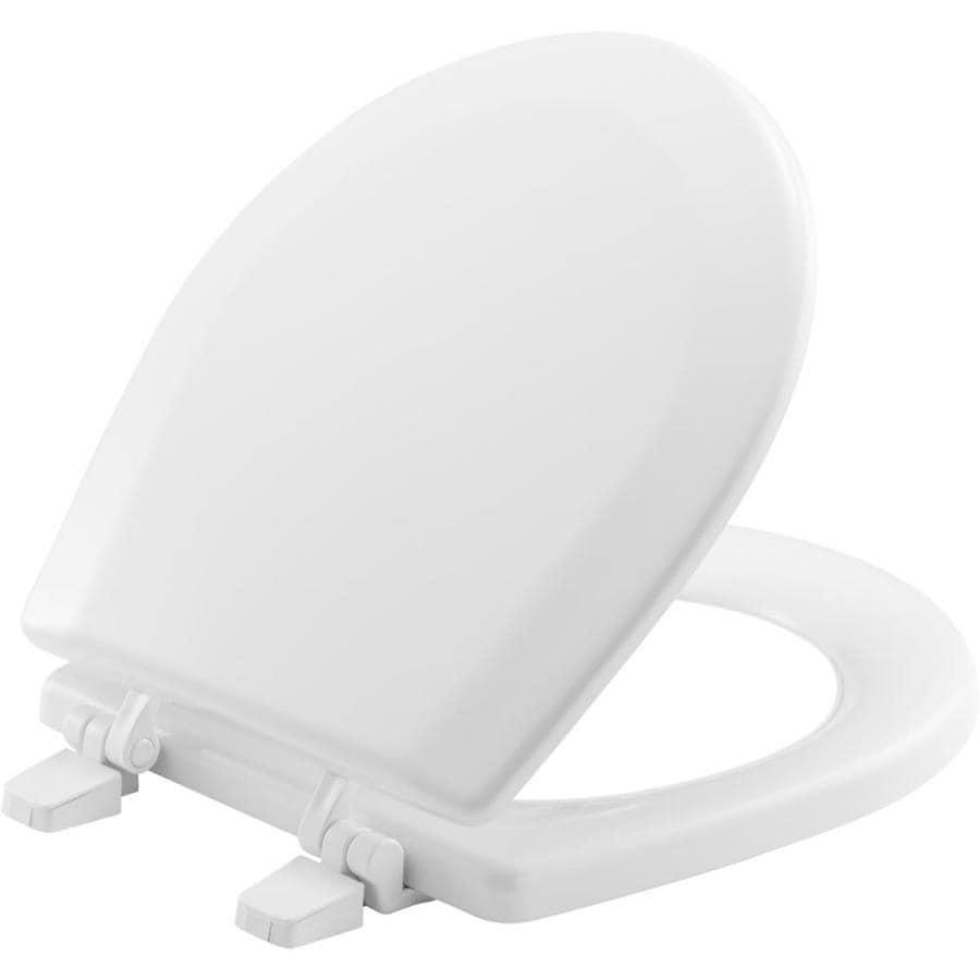 Bemis Marine White Wood Round Toilet Seat