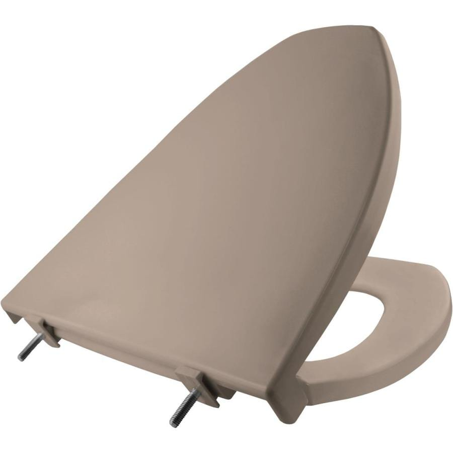 Shop Church Fawn Beige Plastic Elongated Toilet Seat At