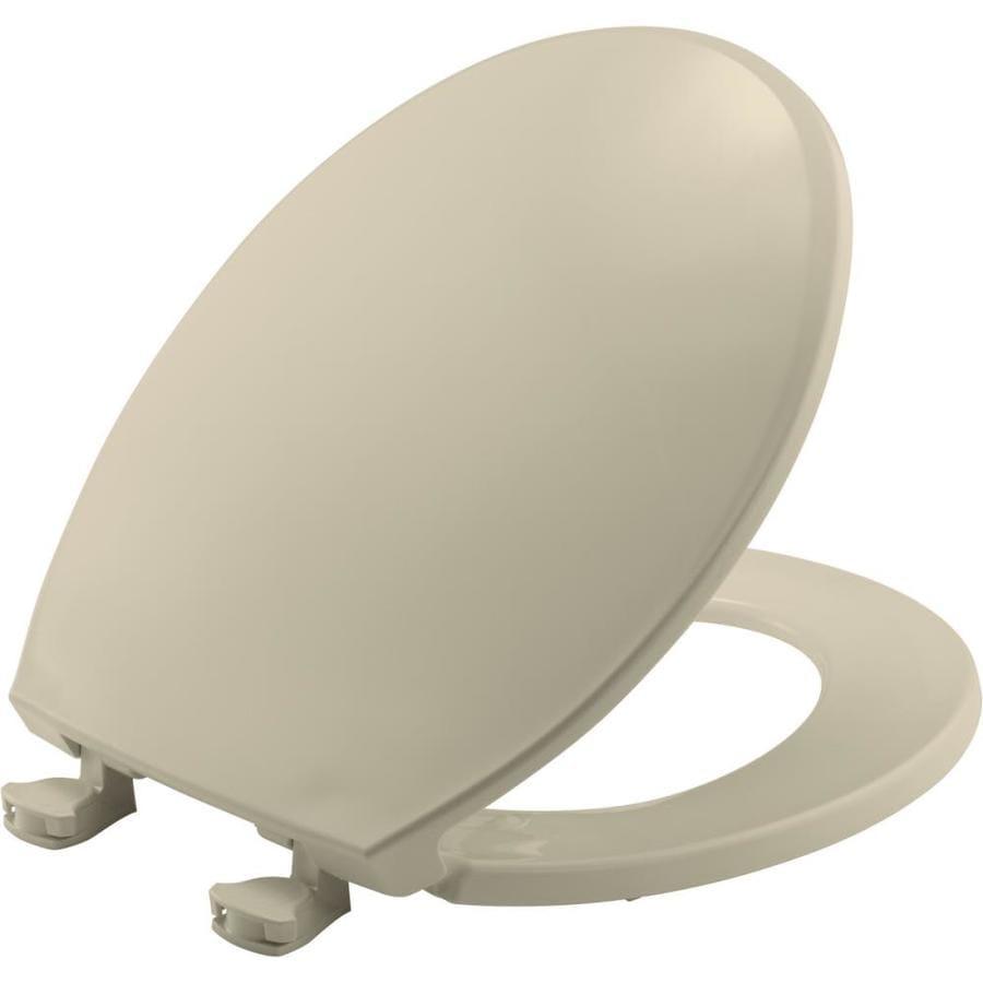Church Lift-Off Bone Plastic Round Toilet Seat
