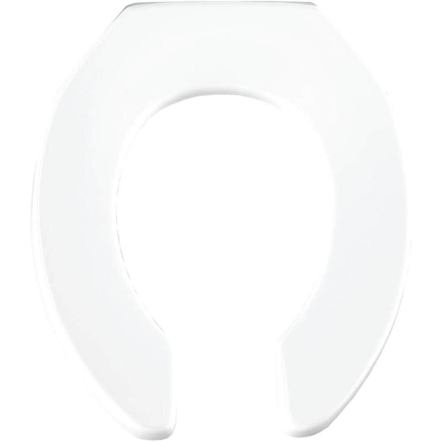 Bemis Commercial White Plastic Round Toilet Seat