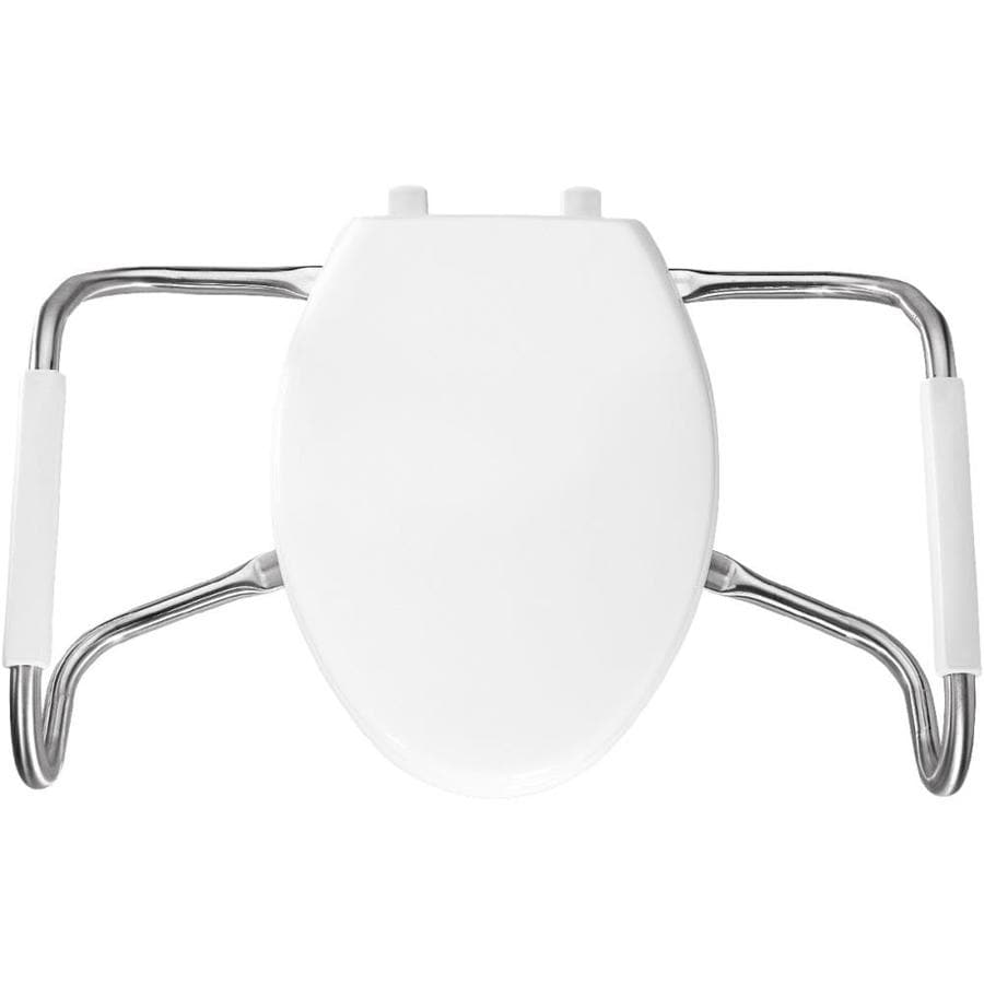 Bemis Medical Assistance White Plastic Elongated Toilet Seat