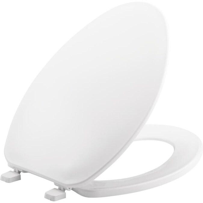 Bemis White Elongated Toilet Seat In The Toilet Seats
