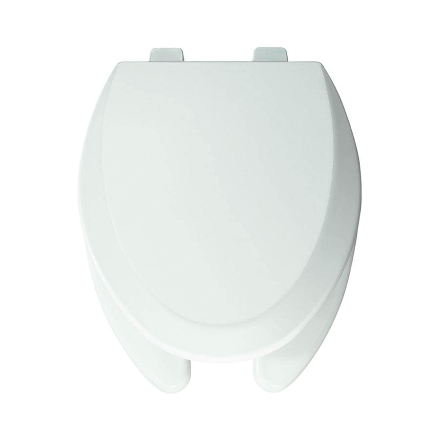 Bemis Pro Series White Wood Elongated Toilet Seat