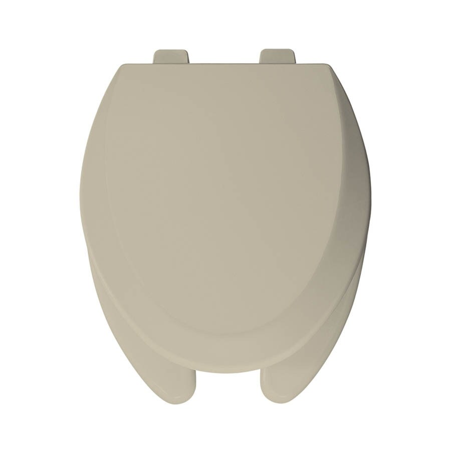 Bemis Pro Series Bone Wood Elongated Toilet Seat At Lowes Com