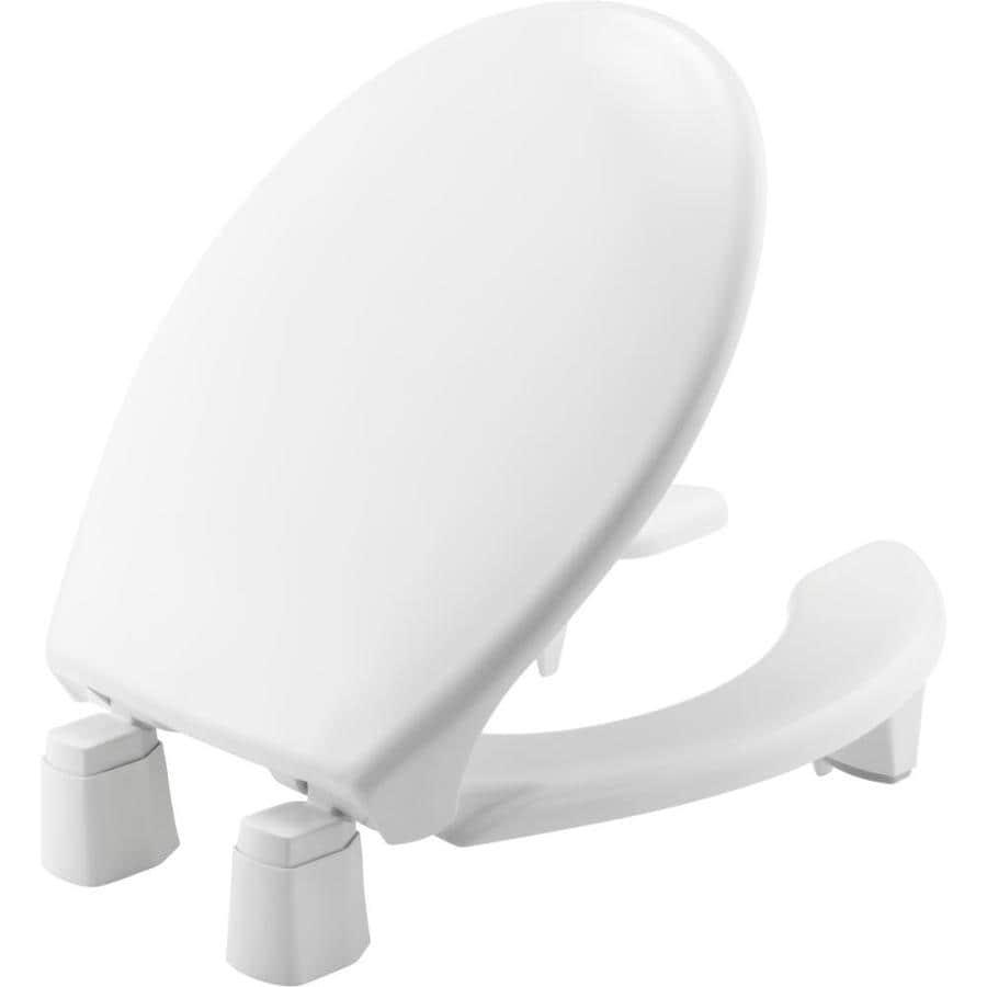 Bemis Medical Assistance White Plastic Round Toilet Seat