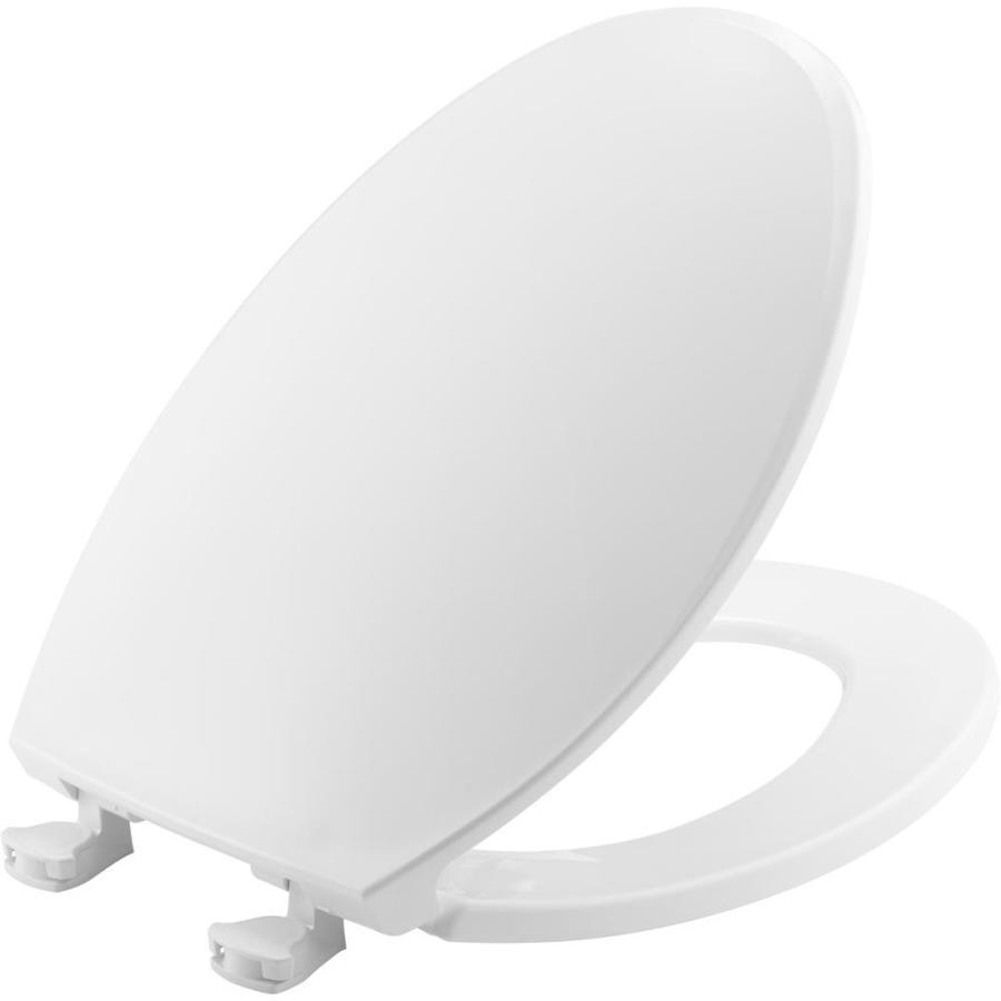 Bemis Lift-Off White Plastic Elongated Toilet Seat