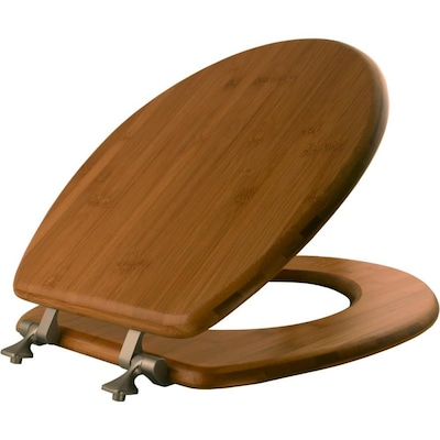 Natural Reflections Dark Bamboo Wood Round Toilet Seat