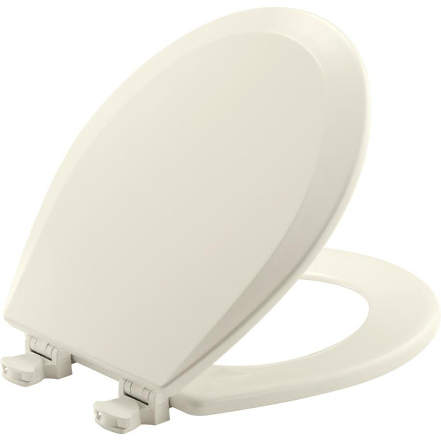Bemis Lift-Off Wood Round Toilet Seat