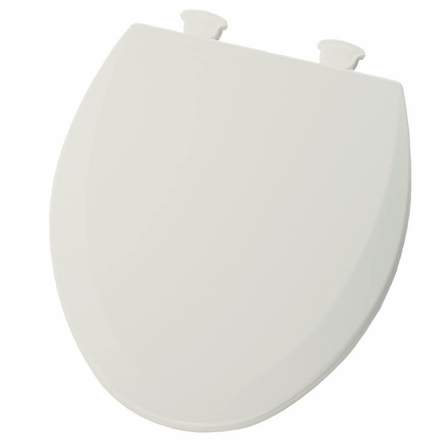 Bemis Lift-Off Bone Wood Round Toilet Seat