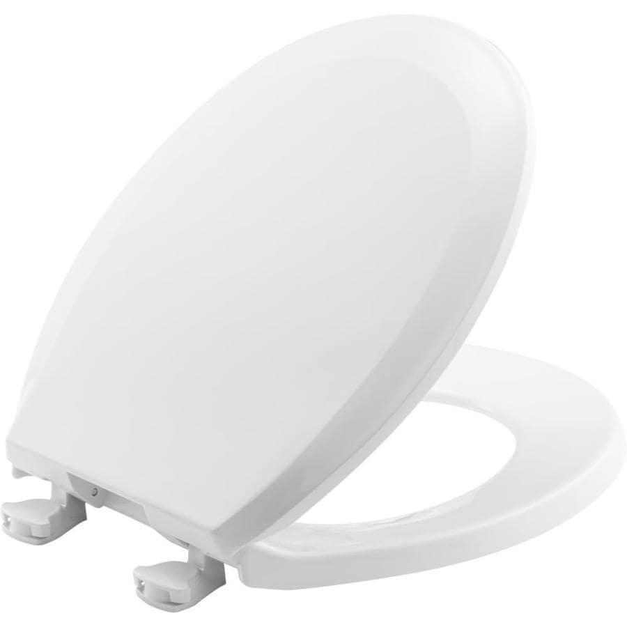 Bemis Lift-Off White Plastic Round Toilet Seat