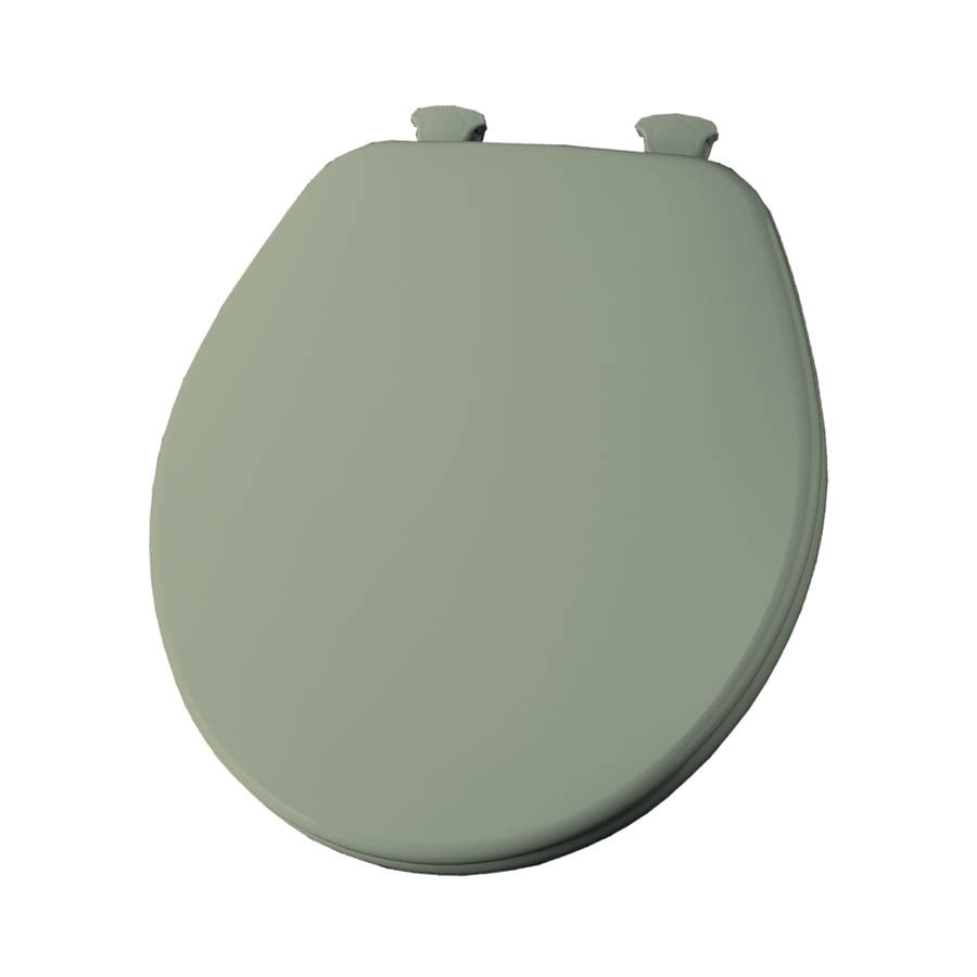 Shop Church Lift-Off Bayberry/Green Wood Round Toilet Seat at Lowes.com