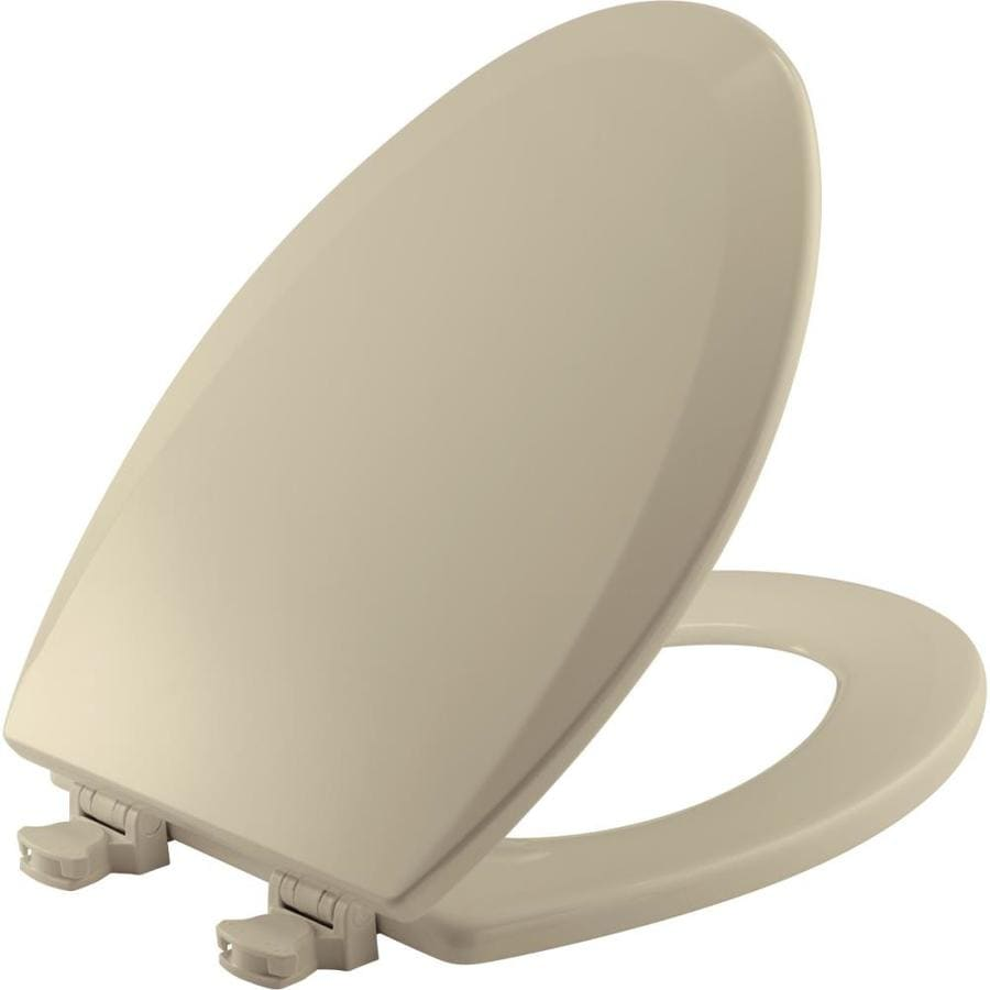 Church Lift-Off Bone Wood Elongated Toilet Seat