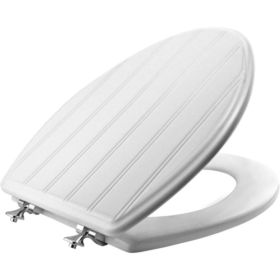 Bemis White Plastic Elongated Toilet Seat