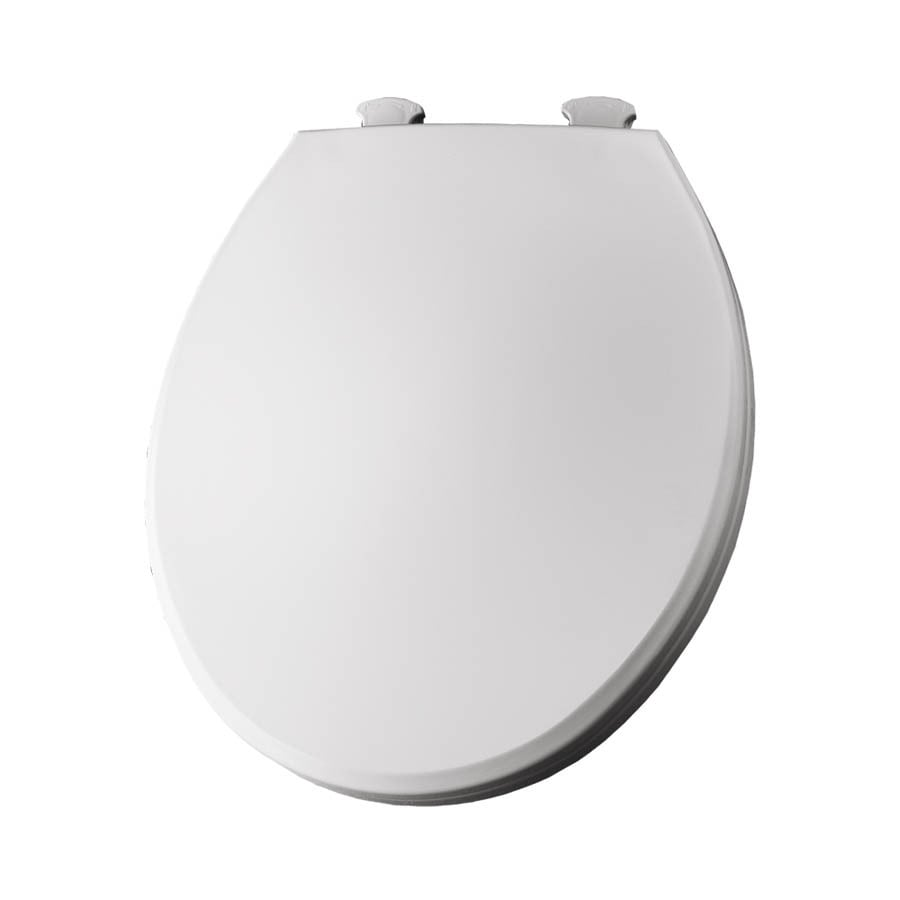 Bemis Lift-Off Crane White Plastic Round Toilet Seat