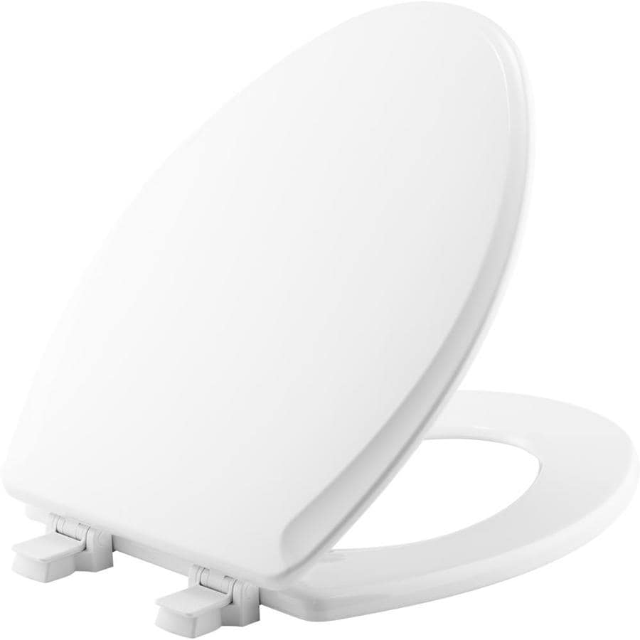 Shop Church White Wood Elongated Toilet Seat At Lowes Com
