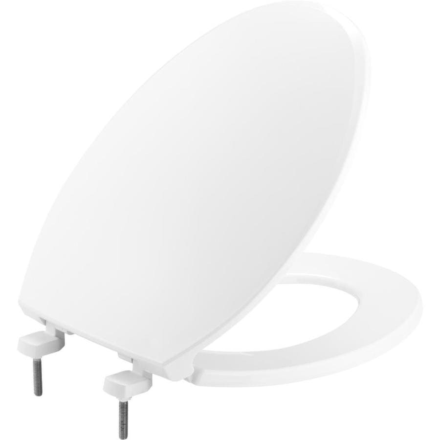 Bemis Hospitality White Plastic Elongated Toilet Seat