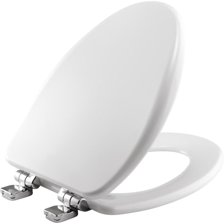 Bemis Wood Elongated Slow Close Toilet Seat At Lowes Com
