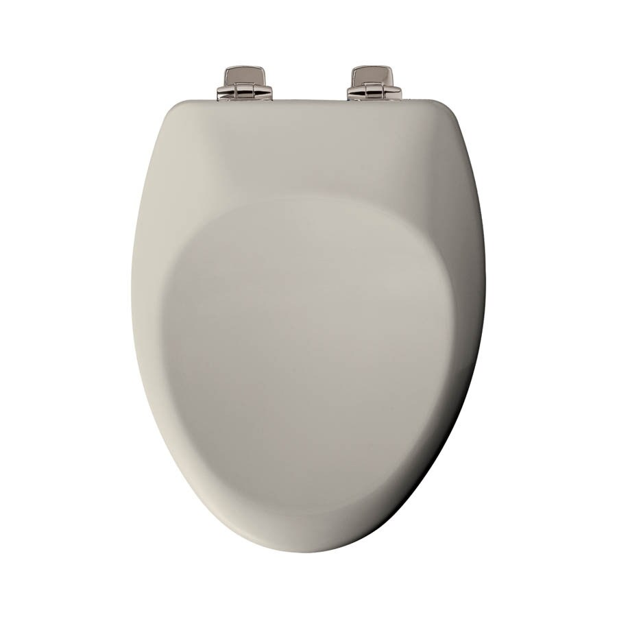 Shop Church Biscuit Wood Elongated Slow Close Toilet Seat
