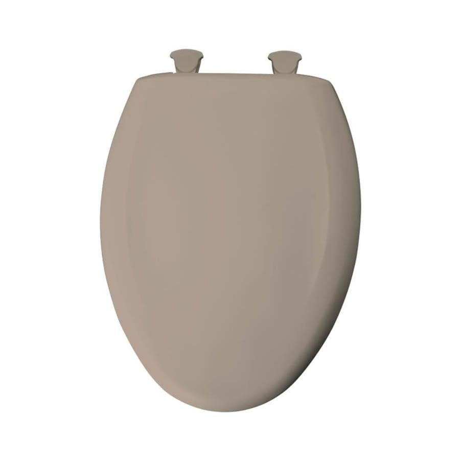 Bemis Lift-Off Fawn Beige Plastic Elongated Slow Close Toilet Seat