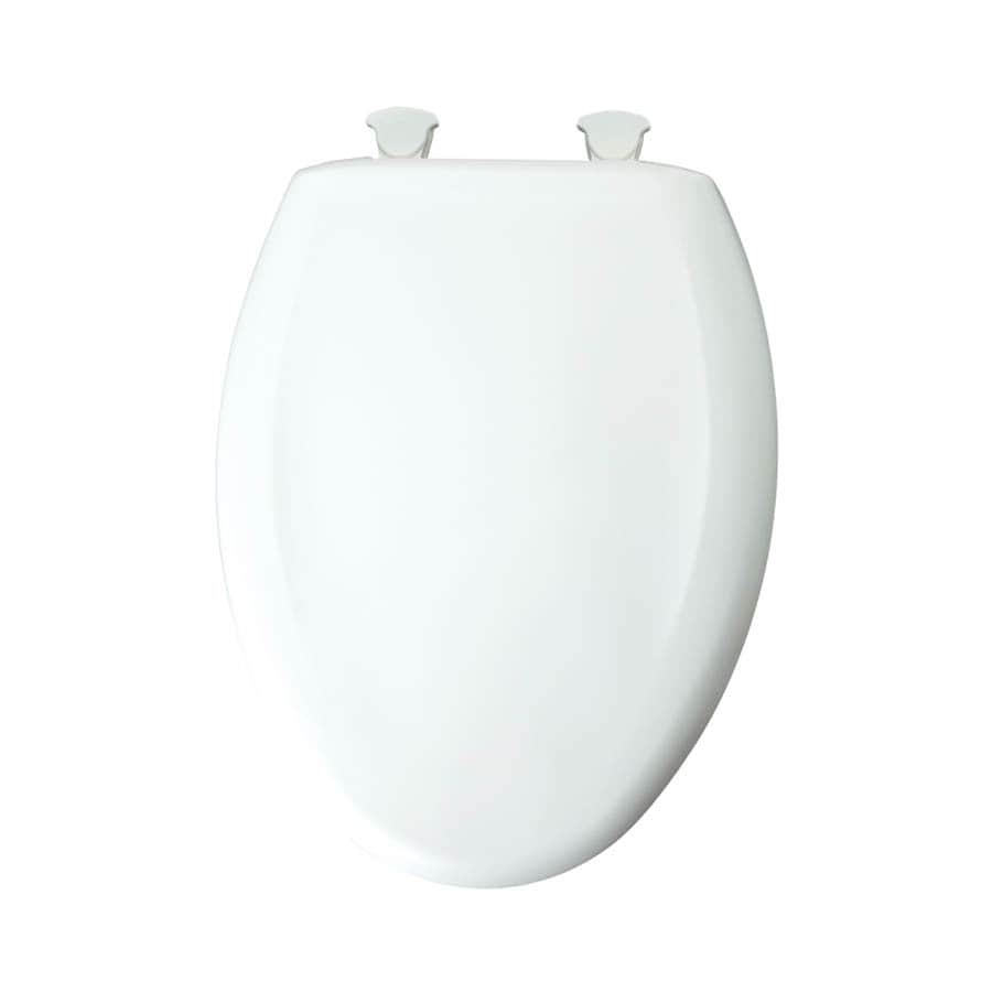 Bemis Lift-Off Crane White Plastic Elongated Slow Close Toilet Seat