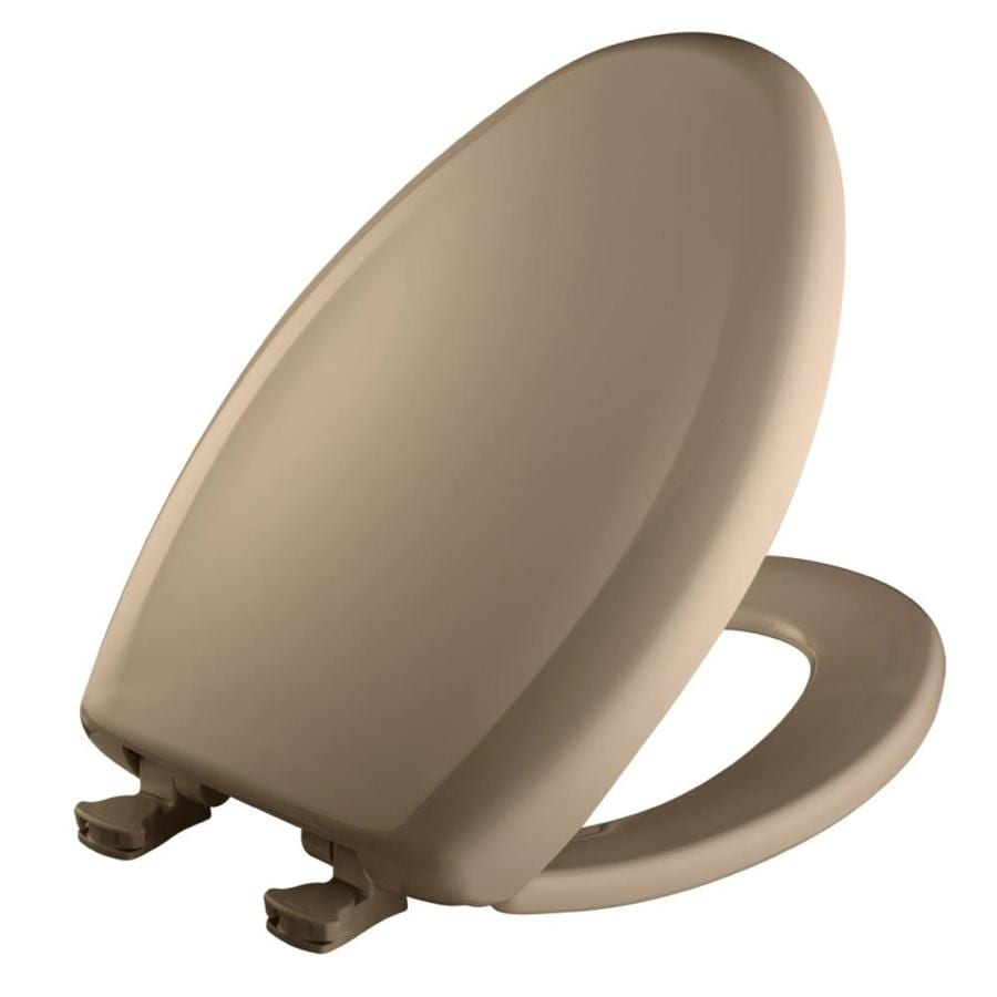 Bemis Lift-Off Sand Plastic Elongated Slow Close Toilet Seat