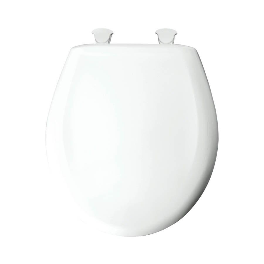 Shop Bemis Lift Off White Plastic Round Slow Close Toilet Seat At