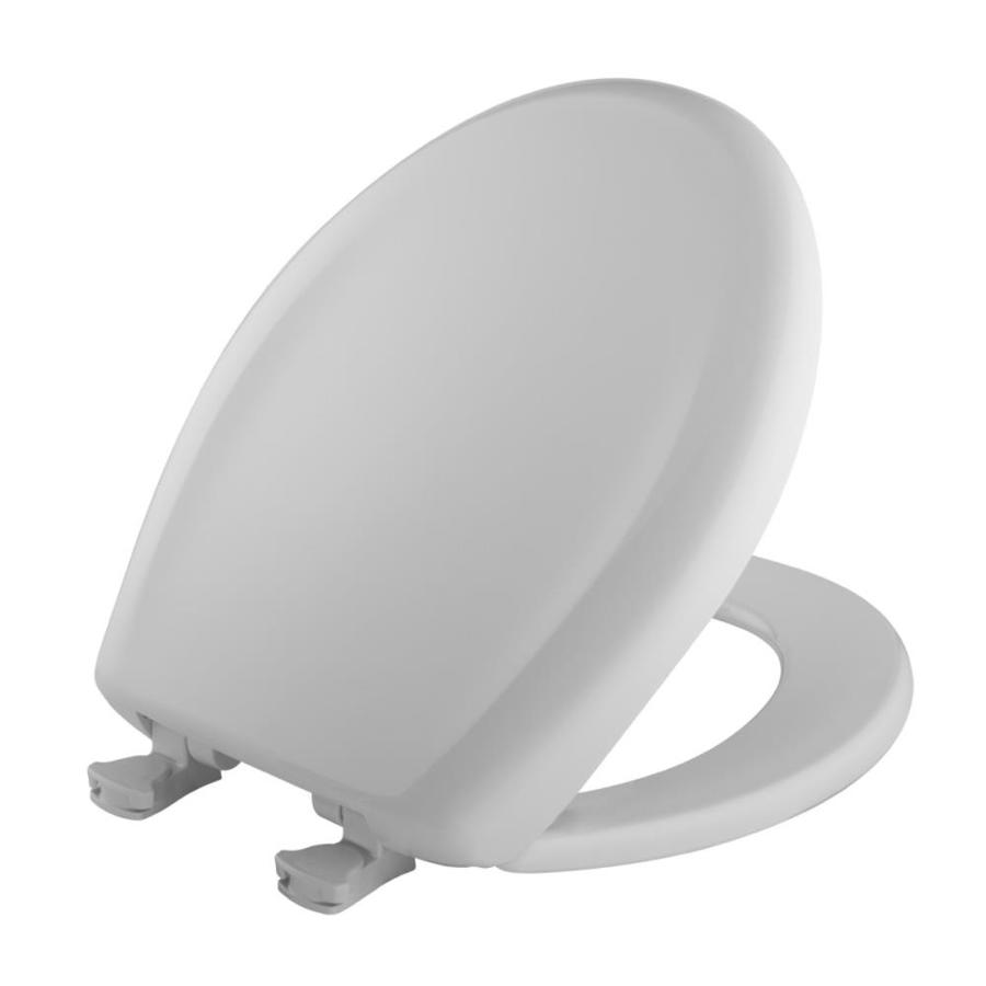 Bemis Lift-Off Crane White Plastic Round Slow Close Toilet Seat