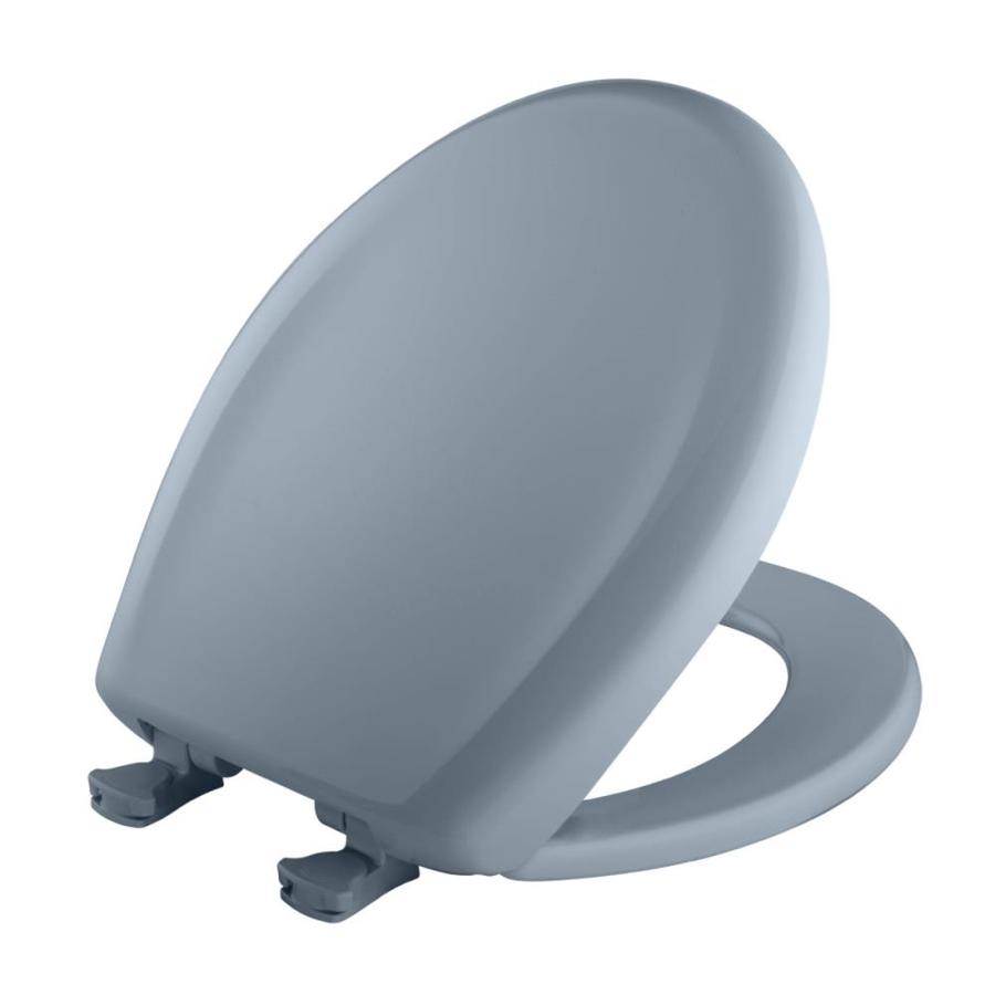 Bemis Lift-Off Sky Blue Plastic Round Slow Close Toilet Seat
