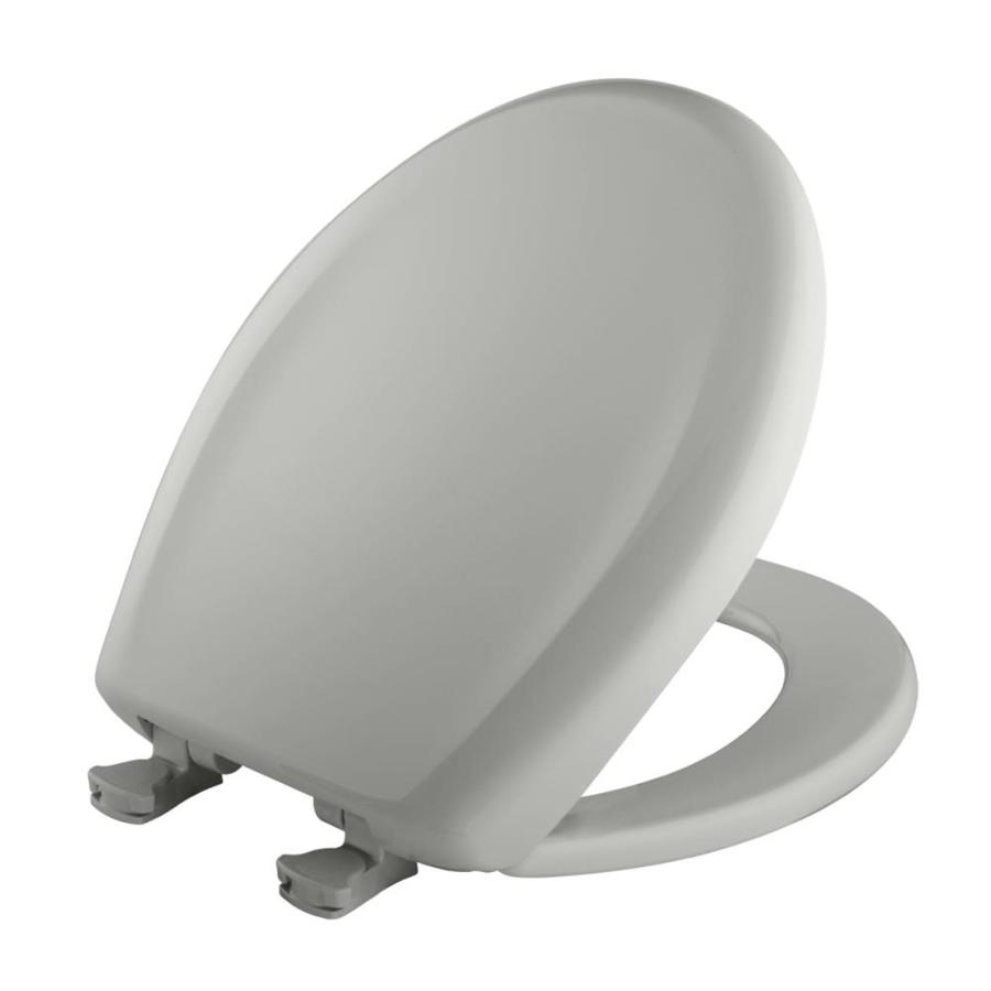 Bemis Lift-Off Ice Grey Plastic Round Slow Close Toilet Seat