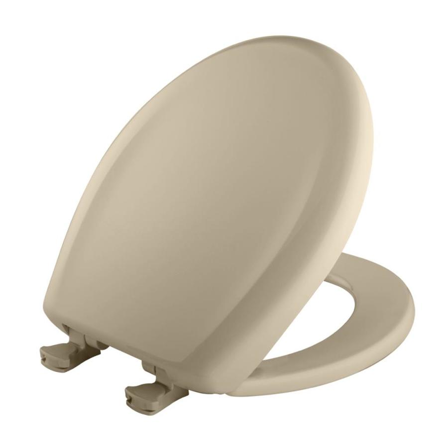 Bemis Lift-Off Creme Plastic Round Slow Close Toilet Seat