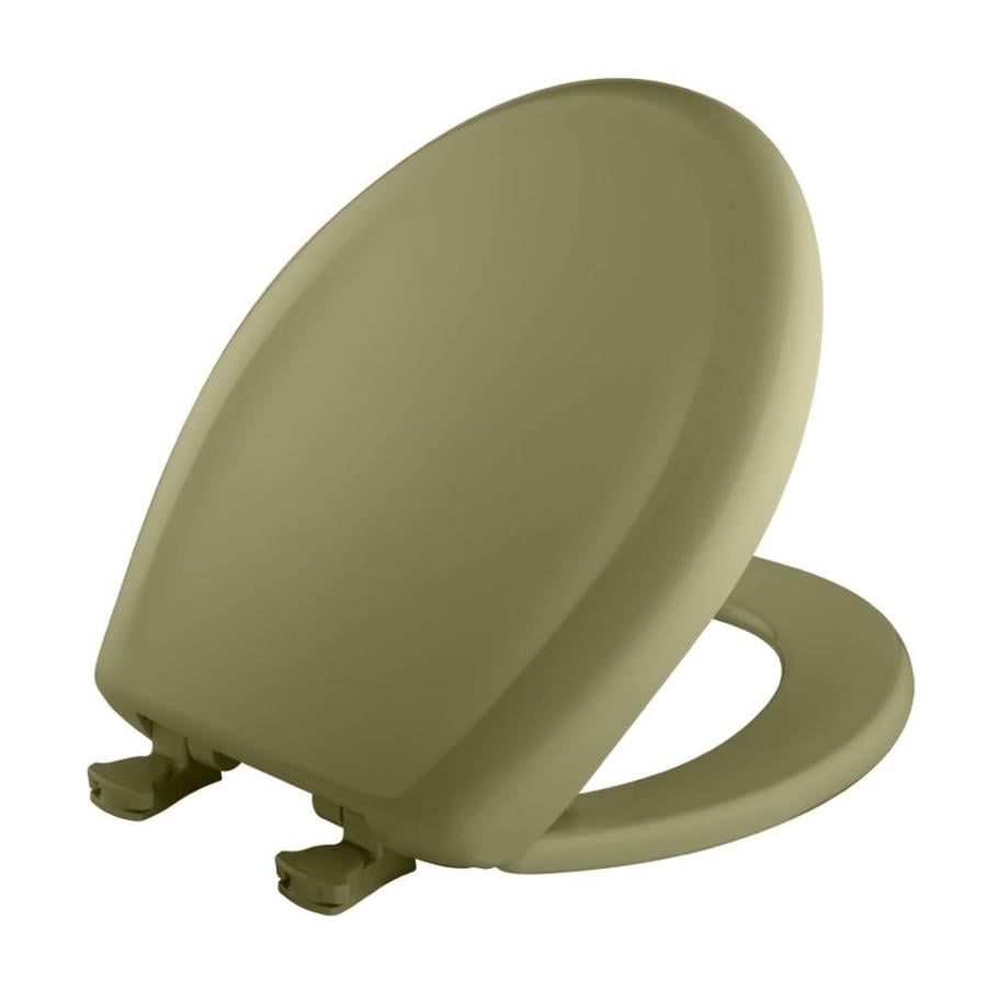 Bemis Lift-Off Avocado Plastic Round Slow Close Toilet Seat