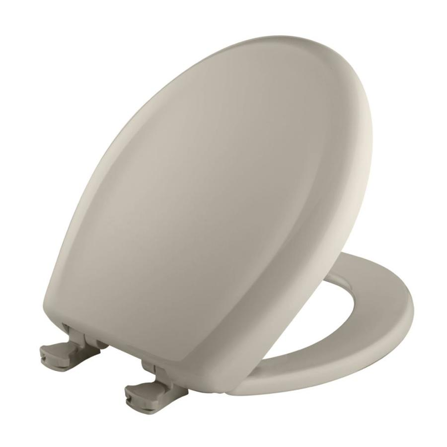 Bemis Lift-Off Warm White Plastic Round Slow Close Toilet Seat
