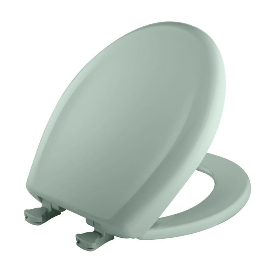 Bemis Lift-Off Seafoam Plastic Round Slow Close Toilet Seat