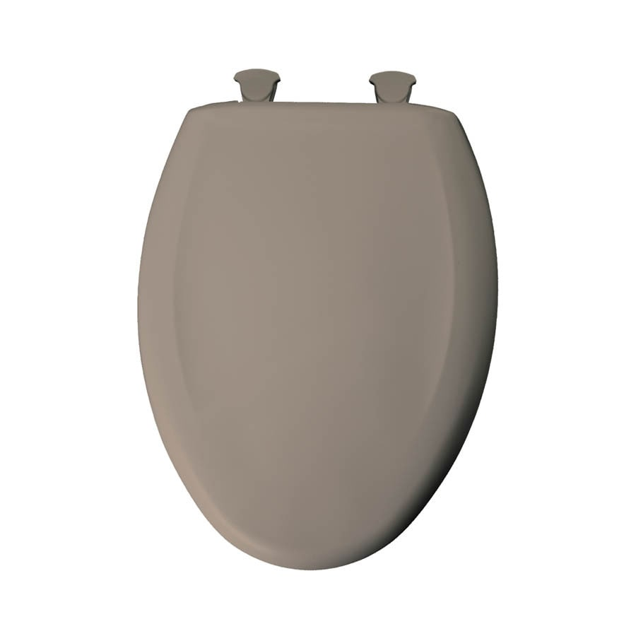 Church Fawn Beige Plastic Elongated Slow Close Toilet Seat