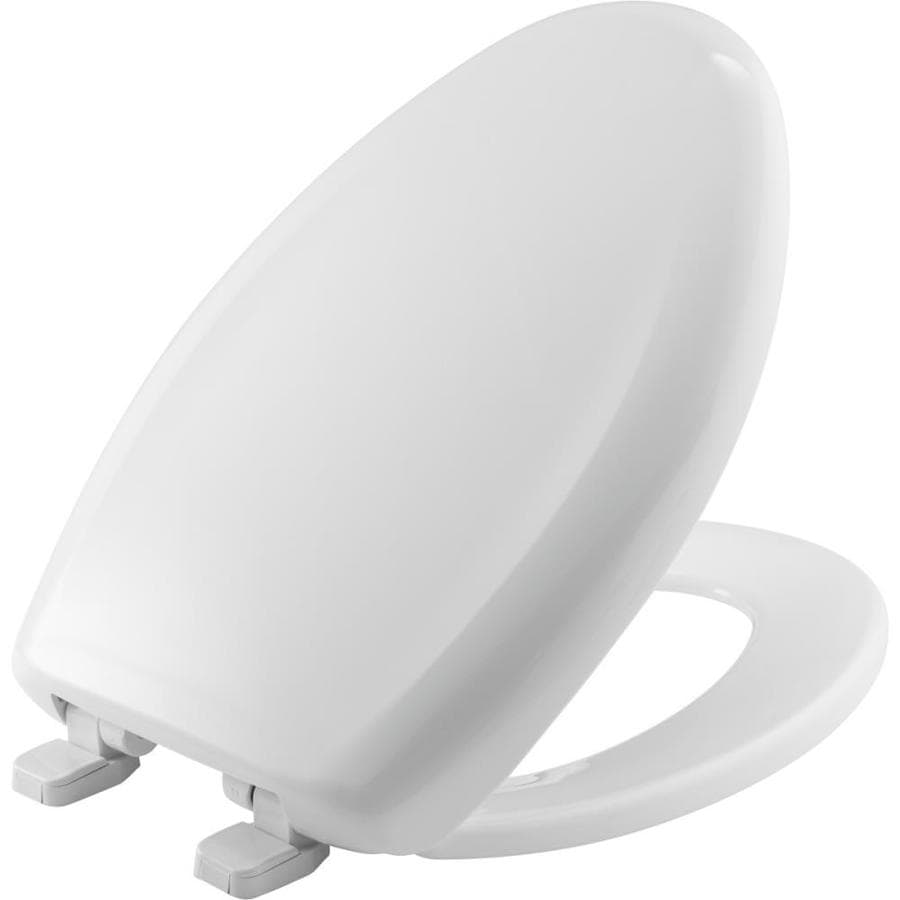 Church White Plastic Elongated Toilet Seat