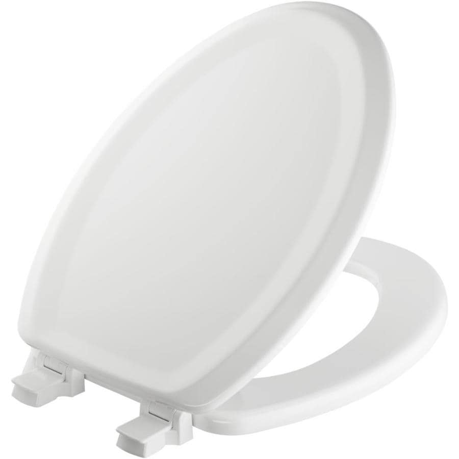 Bemis White Wood Elongated Toilet Seat