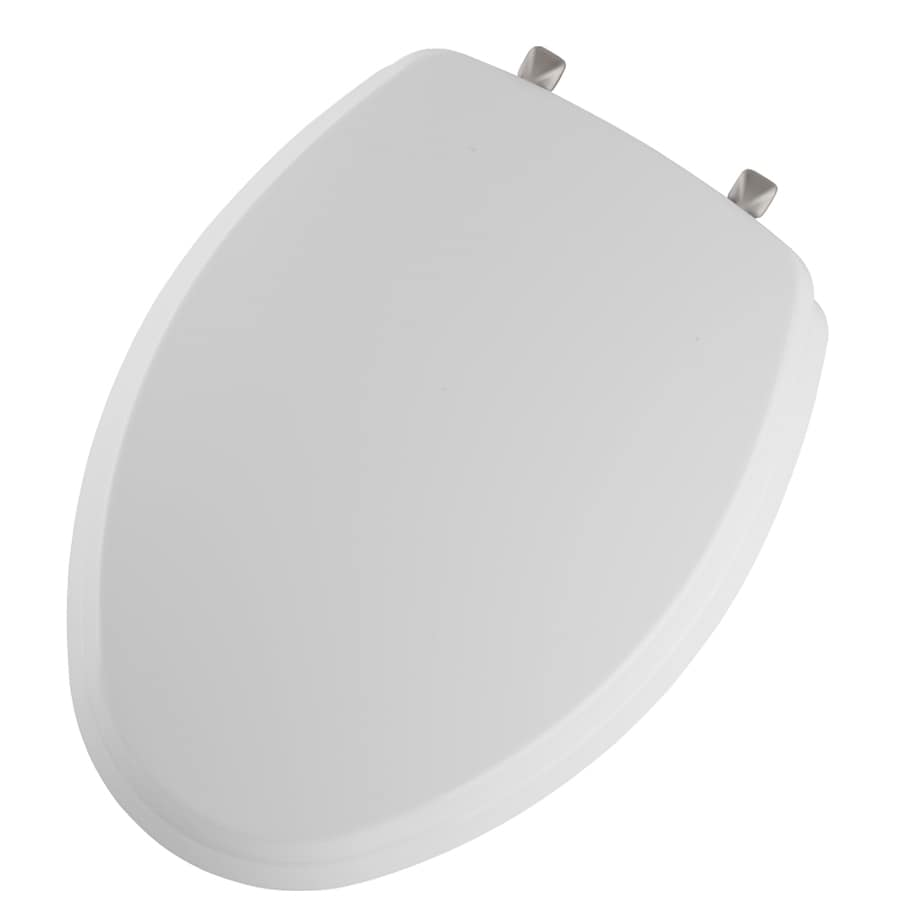Church White Wood Elongated Toilet Seat