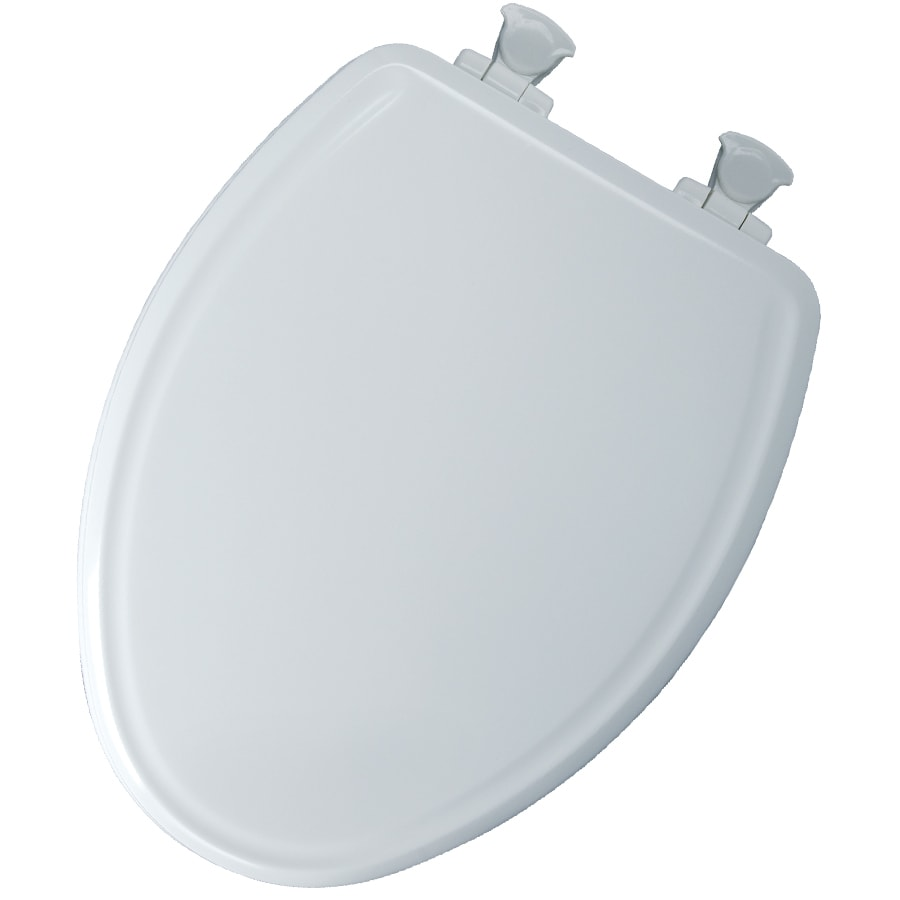 Church White Wood Elongated Slow Close Toilet Seat