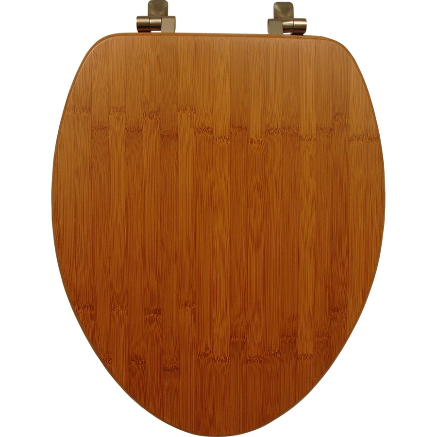 Bemis Bamboo Wood Elongated Toilet Seat At Lowes Com